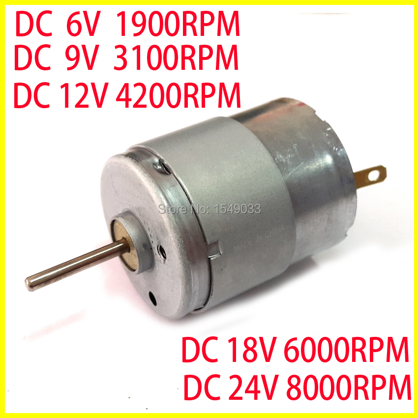 Buy new super silent 5pcs dc 3v 6v 9v 12v for Low speed dc motor 0 5 6 volt