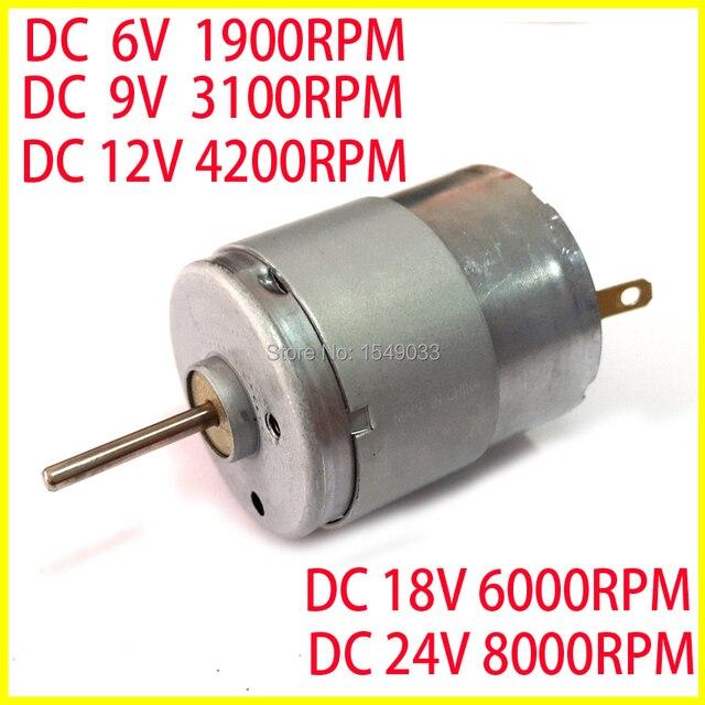 Buy new super silent 5pcs dc 3v 6v 9v 12v for 24v dc motor high torque low speed