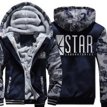 New High Quanlity Star Hoodie Men Cartoon Sweatshirts Coat 2018 Winter Warm Fleece Thick Print Camouflage Jacket Streetwear