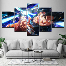 5 Pcs Cartoon Dragon Ball Goku Wall Art Picture Home Decoration Living Room Canvas Print Printing On Artwork