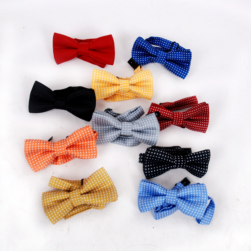 VEEKTIE Lovely Bow Ties For Kids Polka Dots Bowties Children Boys Girls School Party Red Black Baby Butterfly Cravat