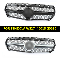 Подходит для Mercedes Benz CLA класс W117 CLA200 CLA250 CLA45 AMG стиль решетка 2013 2016 до подтяжку лица без центр Логотип