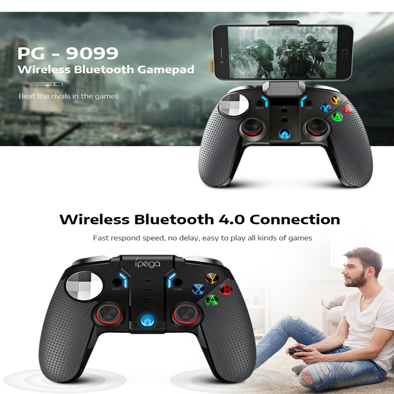 Ipega PG 9099 Wireless Console Game Pad Bluetooth Gamepad Controller Mobile  Trigger Joystick For Android Phone PC Mobil Handle