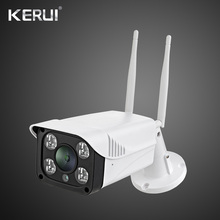 KERUI 720P WIFI IP กล้องการเฝ้าระวังกลางแจ้งกล้อง Night Vision ICloud เก็บกล้องวงจรปิดสำหรับ Home ALARM