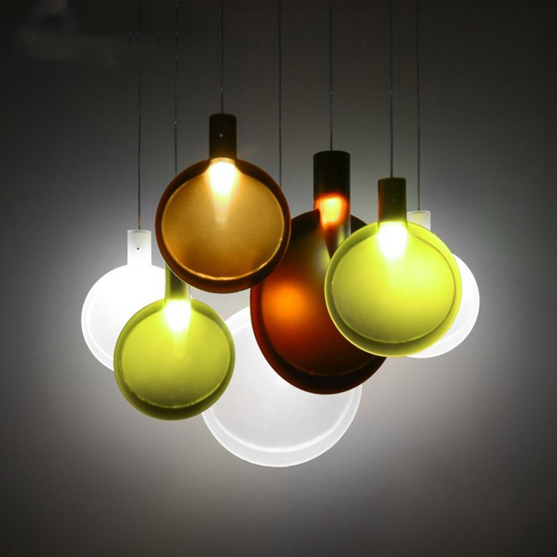 цены creative nordic simple table tennis racket LED chandelier living room dining room bedroom restaurant bar cafe lamp free shipping