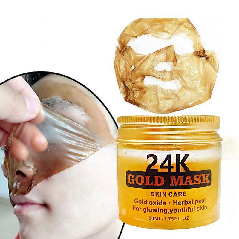 24K Gold Collagen Peel Off Face Mask Skin Care Moisturizing Firming Anti Aging Facial Mask 50ML Facial mask