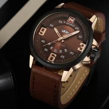 2016 NAVIFORCE Brand Analog Quartz Watch Men Waterproof Fashion Casual Sports Watches Man Leather Wristwatches Relogio Masculino