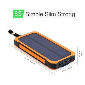 Image 3 - 15000 mah portátil banco de energia solar ao ar livre carregador de bateria externa para iphone samsung smartphone xiaomi acampamento ao ar livre