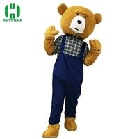 New Adult Teddy Bear Mascot Costume Adult Teddy Bear Halloween Christmas Cosplay Mascot Costume For 1.65m 178m