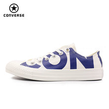 Converse 2018 new spring autumn Big letters sneakers man and women Unisex blue color Skateboarding Shoes 159535C