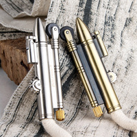 Creative Retro Bullet Flame Metal Lighter Torch Old Kerosene Lighters With Cotton Rope Novelty Gadget Military Addictive Gift|Cigarette Accessories| |  -