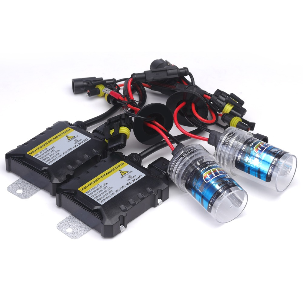 Slim Ballast kit Xenon Hid Kit 55W H4 H1 H3 xenon H7 H8 H10 H11 H27 HB3 HB4 H13 9005 9006 Car light source Headlight bulbs lamp 35w xenon hid kit car headlight bulbs slim ballast h4 h7 h8 h9 h11 h1 h3 h16 hb3 hb4 880 d2s 4300k 6000k 8000k 10000k 12000k