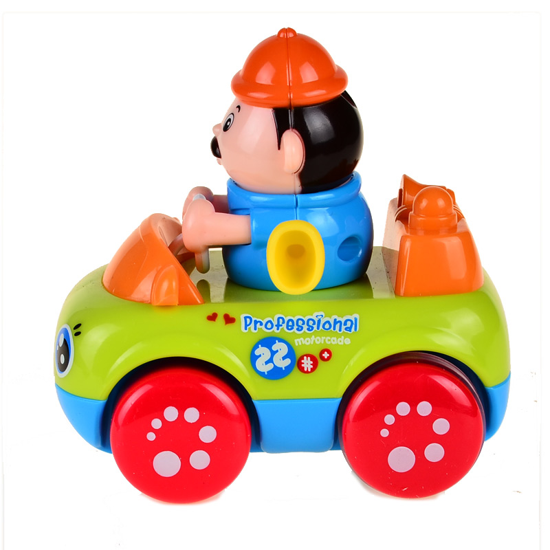 Bohs Toddler Occupational Play Vehicles Fireman Engineer Doctor Policeman Friction Powered Inertia Toys-4pcs
