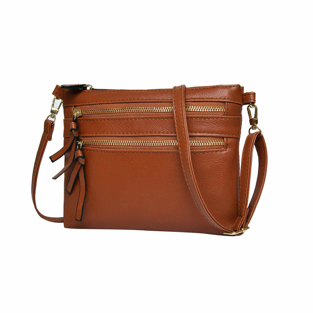 Vintage Women Girl Fashion PU Leather Flap Pretty Litchi Pattern Crossbody  Shoulder Bags Messenger Bag Zipper 597f9bbe31322
