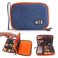 2016 Waterproof Storage Bags Mobile Phone Bag Digital Device Organizer Travel For Phone USB Cable Charger