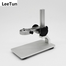 Discount! Microscope Aluminium Alloy Raising Lowering Stage UP Down Support Table Stand for USB Digital Microscope
