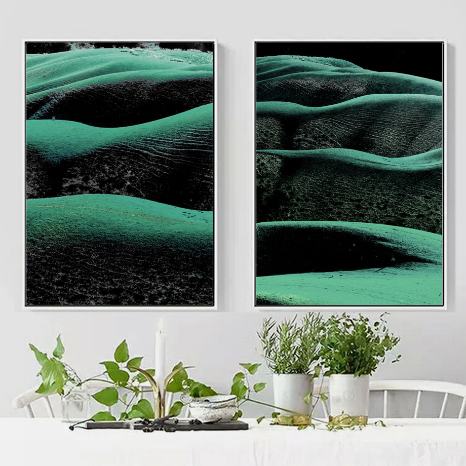 Wall Art Canvas Painting Green Grass Land Quotes Abstract Panting Nordic Posters And Prints Wall Pictures For Living Room Decor in Painting Calligraphy from Home Garden