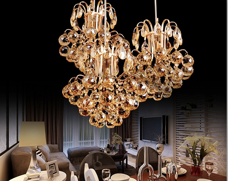 Modern Lighting LED Crystal Lamp Ceiling Lamp Chandelier Lamp Restaurants Bedroom 1L and 3L Design Lamp Free Shipping noosion modern led ceiling lamp for bedroom room black and white color with crystal plafon techo iluminacion lustre de plafond