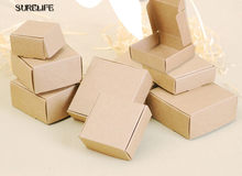 100pcs Kraft Black White Paperboard Party Box Craft Gift Packing Boxes Candy box Cosmetic Handmade Soap Package Box(China)