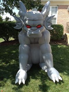 inflatable halloween gargoyle decoration with light red eye - Blow Up Halloween Decorations
