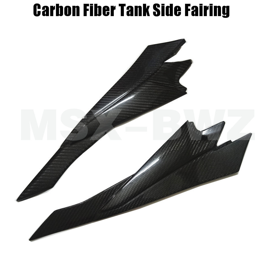 Black Motorcycle Carbon Fiber Tank Side Cover Panel Fairing For Suzuki GSXR 600 750 2008-2011 2009 2010 K8