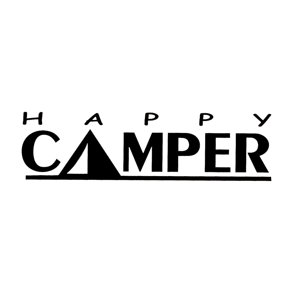 5 720cm camping decal happy camper decal trailer tent funny car window bumper novelty jdm drift vinyl decal sticker