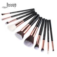 Jessup Brand Black Rose Gold Professional Makeup Brushes Set Make Up Brush Tools Kit Foundation Powder
