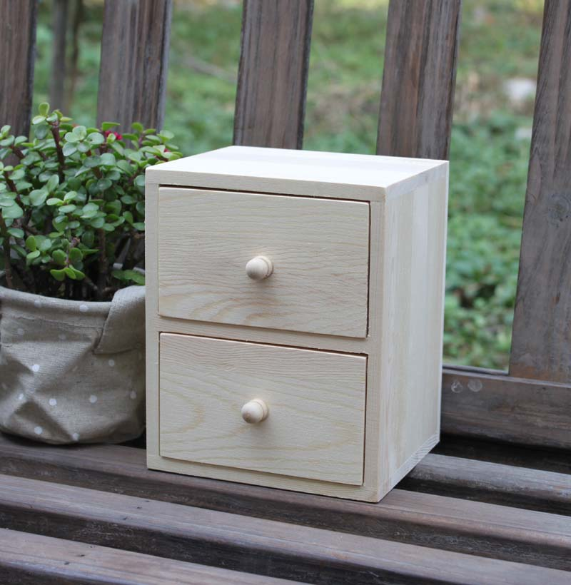 ZAKKA Grocery Style The Second Drawer Desktop Storage Box Small Jewelry Box  Wooden Box Desk Orgainzer In Storage Boxes U0026 Bins From Home U0026 Garden On ...