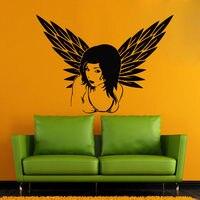 Beauty Wall Decals Girl Wings Decal Vinyl Sticker Beauty Salon Bedroom