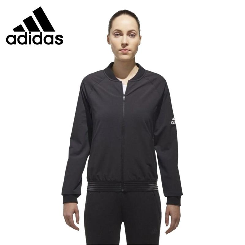 Original New Arrival 2018 Adidas JKT BOS BOMBER Women's jacket Sportswear striped trim fluffy panel bomber jacket