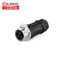 Cnlinko 3Pin M16 10A IP67 Waterproof PBT Top Quality Power Cable to Cab