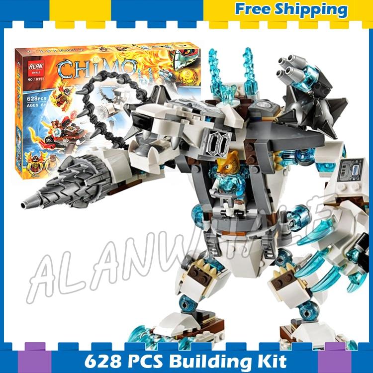 628 pièces Icebites Griffe Foreur Mech Robots Blaster Vélo CHI 10355 Modèle Blocs De Construction Assembler des ensembles de Cadeaux Compatible avec Lego