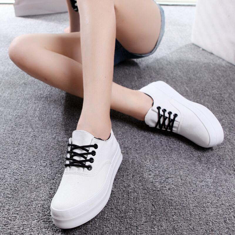 The new 2017 starting Shoes woman canvas fashion women Casual scarpe creepers ladies