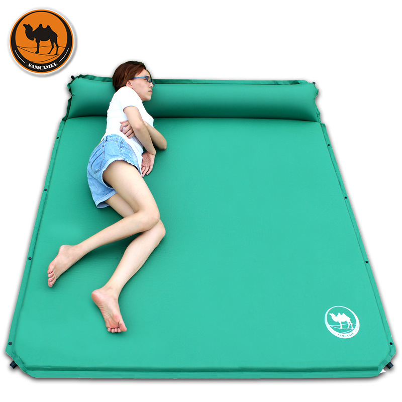 CS-033-3 broadened 160cm automatic inflatable mattress outdoor cushion 190 * 160 * 3.5cm large spack camping mat for 2persons otomatik çadır
