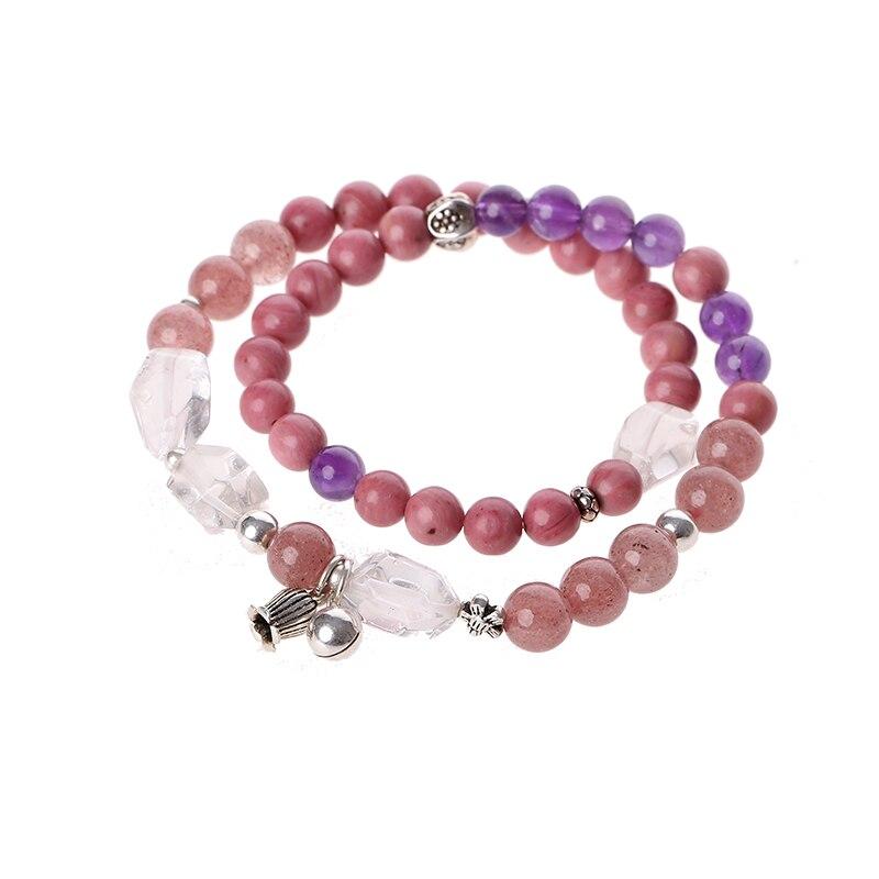 Ladies bracelet Crystal bracelets double circle accessories simple Sen Department retro pink girlfriends birthday gifts retro circle