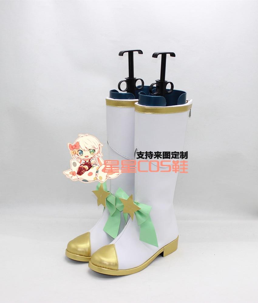 LOL Fae sorcière étoile gardien Lulu blanc Halloween Cosplay chaussures bottes X002