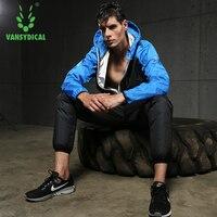 Vansydical 2019 New Men Tracksuit Team Suit Hoodies Set Windbreaker Jacket Leggings Pants chandal hombre Plus Size 3XL