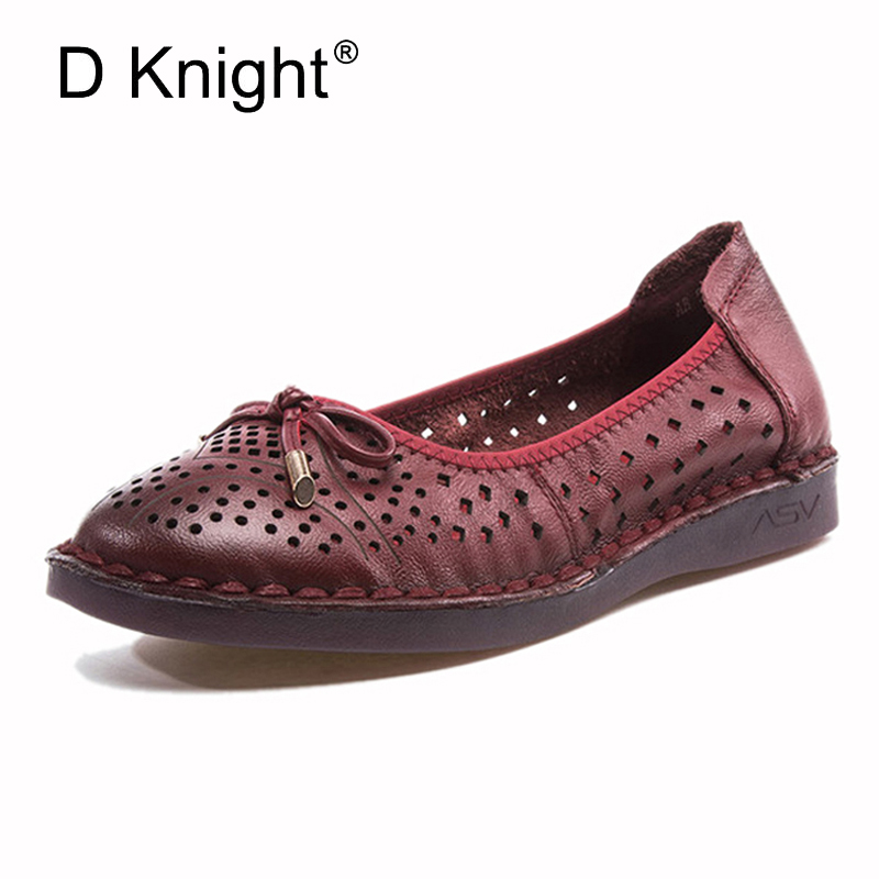 Genuine Leather Flat Handmade Outsole Comfortable Casual Shoes Women Flats Soft Single Shoes Wine Red Grey Black Women Loafers mycolen mens casual genuine leather flats loafers for men comfortable business wine red black crocodile print man leather shoes