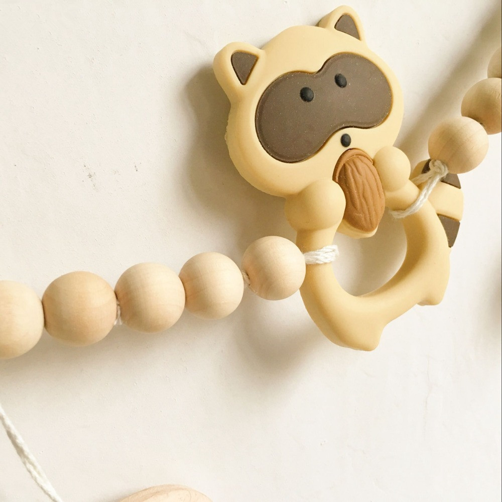 Cute Animal Wooden Beads Garland Baby Room Bed Decor Christmas ...