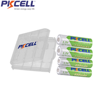Перезаряжаемый аккумулятор PKCELL NIMH AA с предзарядкой nimh батареи aa 2200mAh 2 шт. и AAA 850mAh 2 шт. с 1 батарейным блоком 2a aaa