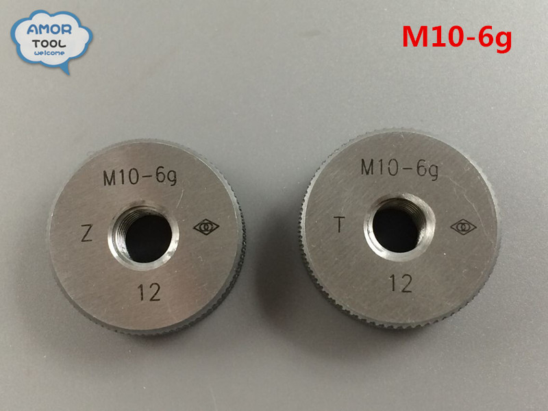 M10-6g Go and No Go Metric Thread Ring Gage Gauge Tools  цены