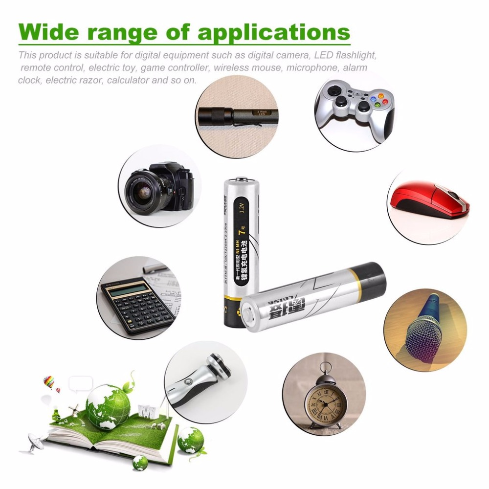 LEISE Immediacy Ni-MH Rechargeable Battery 1.2V AAA 1000mAh Environmentally Friendly Low Consumption Battery For Toy And Mouse