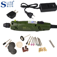 Slite Mini Electric Grinder Drill DIY Engraver Carve Kit Machine Dremel Accessories Variable Speed Sharpening Knives