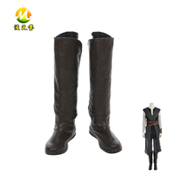 2017 New Version Star Wars 8 Rey Cosplay Boots Halloween Shoes Party Carnival Accessories For Adult