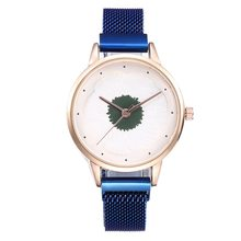 Explosion Trend Fashion watch women 3D Flower Milan With Magnet Buckle Alloy Mesh Strap Quartz Girls Watch relojes para mujer(China)
