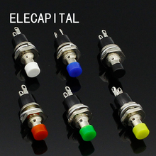 6pcs 7mm Momentary Push button Switch Press the reset switch Momentary On Off Push Button Micro Switch Normally Open NO