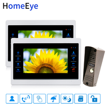 HomeEye 7'' Video Doorbell Video Intercom Motion Detection Voice Message OSD Menu Touch Button 1-2 Home Security Access System все цены