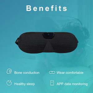 Image 4 - Snore stopper Anti Snore eye mask Prevents snore Black Comfortable Sleep eye mask Snoring Solution Sleep Apnea Sleeping