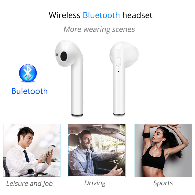 i7S TWS Ture Wireless Bluetooth Earphone waterproof Headset Mini Earbud With Microphone headphones for iphone Android Air pods