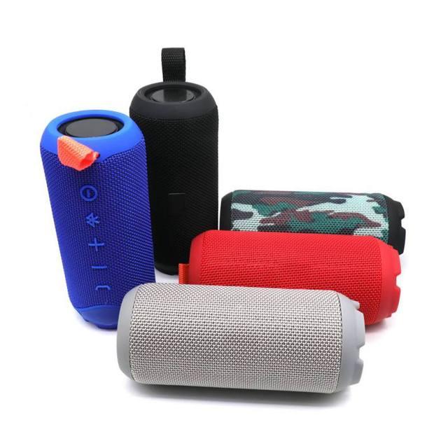 Altavoz Bluetooth inalámbrico al aire libre portátil a prueba de polvo mini tarjeta de Audio altavoces incorporado 1200mAh Batería grande